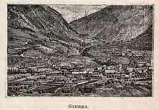 Stampa antica SONDRIO piccola incisione Valtellina 1905 Old antique print