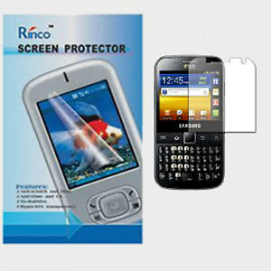 For Samsung Galaxy Y Pro Duos  B5512 Ultra Clear LCD Screen Protector Guard UK