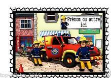 Affiche / Pancarte de porte plastifié Sam le pompier 03  avec prénom