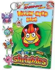 WIGGLY EYE BUG INSECT EMBELLISHMENTS SHRINKLES SHRINK ART BUMPER SET & PENCILS