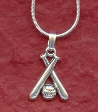 Softball Bat and Ball Necklace New Baseball Charm Pendant including 18inch chain