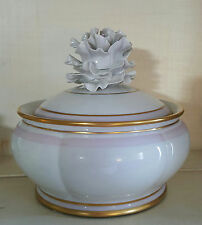 Manifattura Artistica Le Porcellane Exquisite Jar, Flowered Lid, Italy, 5.5""