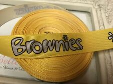 New 1 Metre Brownies Print Grosgrain Ribbon Designer 22mm Cakes Bow Dummy