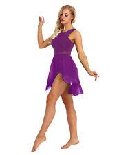 XS Women Ballet Dance Costume Lyrical Chiffon Dress Wrap Leotard Skirt Dancewear