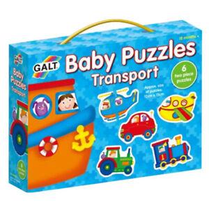 Galt Baby ~ TRANSPORT ~ 6 x 2 Pieces Puzzles - 18+ Months ~ Matching Skills BNIB