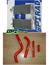 Aluminum Radiator +RED hose FOR Yamaha YZ125 YZ 125 2002-2004 2003 2002 2003