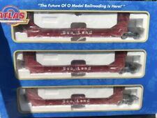 ATLAS O SEA LAND GUNDERSON 3 CAR SET NEW FOR LIONEL MTH DOUBLE HUSKY TWIN STACK