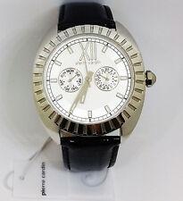 Pierre Cardin . PC106042F02 . Armband Uhr Damen . Leder schwarz . NEU