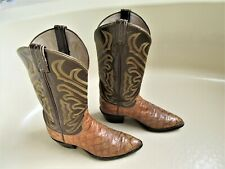 Vintage Tony Lama Rare Men'S El Rey Collection Anteater Cowboy Boots - Size 8.5