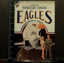EAGLES 1980 SIGNED 1st Ed. F-15 AIR FORCE FIGHTERS Novel By MAGGIE DAVIS