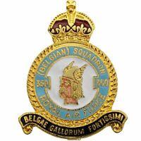 Kings Crown 350 Belgian Squadron Royal Air Force RAF Lapel Badge - ID69