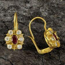 Enchanted Garnet and Cubic Zirconia Earrings: Museum of Jewelry