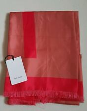 PAUL SMITH SCARF 100% SILK TWO TONE RED NEW WITH TAGS RRP £130