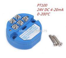 Modulo Trasmettitore Temperatura PT100   0 ~ + 200°C 24 V DC 0 - 20ma