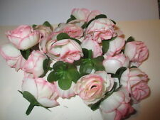 5 TEA ROSE HEADS FOR CARD MAKING / CAKES / SCRAPBOOKING