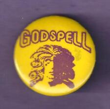 "Stephen Schwartz ""GODSPELL"" David Byrd Artwork 1971 Off-Broadway Pinback"