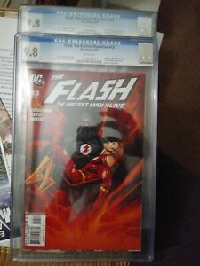 FLASH: THE FASTEST MAN ALIVE #13 CGC 9.8 (8/07) DC Comics white pages Both cover