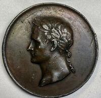 1814 First French Empire Napoleon I Æ obv Napoleon rev eagle FEVRIER MDCCCXIV XF