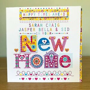 New Home personalised card. Personalised moving home card special new home card