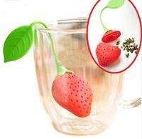 Teesieb Teeei Silikon Erdbeerform Teefilter Teekanne Tee Sieb Teekugel Erdbeere