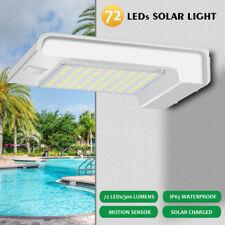 72 LED Solar Power Motion Sensor Garden Path Security Lamp Waterproof Wall Light