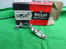 Vintage NOS Genuine Raleigh Phillips Cycle Rod Brake Fork Clips