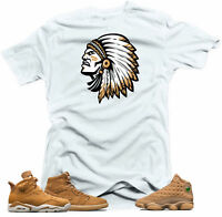 Shirt to match Jordan Golden Harvest OG Wheat Gold 6 1 13.Chief Wheat White Tee