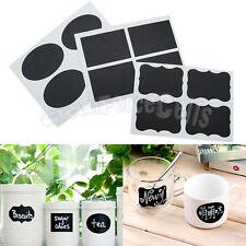 36 pcs Blackboard Chalk Chalkboard Stickers Tags Kitchen Jar Labels Tags Board
