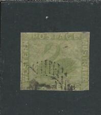 More details for western australia 1860-64 6d sage-green fu sg 28 cat £400