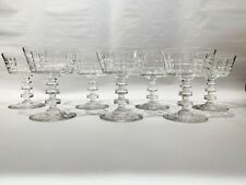 Set of 7 Short Dutch Style Champagne Coupes Glassware