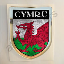 Cymru Sticker Resin Domed Wales Stickers Flag Grunge 3D Adhesive Decal Gel Car
