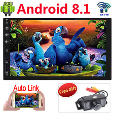 "Android 8.1 7"" Quad Core WiFi Double 2DIN GPS Car Radio Stereo MP5 Player AUX SD"