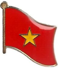 Lot Of 3 Vietnam Flag Lapel Pins - Vietnam Flag Pin