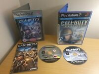 PLAYSTATION 2 - CALL OF DUTY GAME BUNDLE - FINEST HOUR & 3 - COMPLETE - FREE P&P