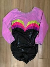 Dreamlight Gymnastics Competition leotard AM black purple pink green girls