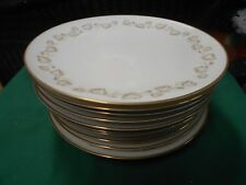 "Magnificent NORITAKE ""GoldIvy"" Gold Trim ..Set of 12 DINNER Plates"