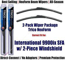 Wipers 2pk Beam fit 2001-2003 International 9900ix SFA w/2-Piece Glass 16180x2