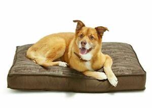 Lacourte Medium Pet Bed Brown Wood Pattern Tear Resistant Washable 27 x 36 New