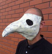 Máscara de disfraz de la peste médico Blanco Látex Halloween Gótico Steampunk pico de pájaro