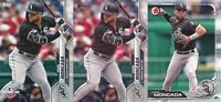 Yoan Moncada lot of 3 different Topps Chicago White Sox baseball cards