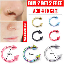 HorseShoe Bar Circular Barbell Ring Septum Lip Nose Ear Cone Spike Piercing