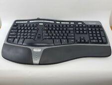 New listing Microsoft Natural Ergonomic Usb Keyboard 4000 V1.0 Ku-0462 1048 Cleaned & Tested