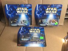 3 PC LOT STAR WARS EPISODE 1 MICRO MACINES COLLECTION I, II, & IV