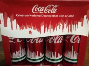 FEW SETS LEFT! Coca Cola Coke Aluminum Bottles UAE National Day Skyline Box of 4