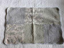 Ivory Green Lavender Cotton Standard Sham Stipple Quilting Scallop Edges Nice