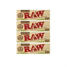 4 RAW Organic Single Wide Rolling Paper (Single Window) (50 Papers/Pack)