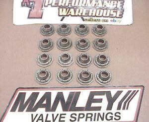 """16 Manley ICD Titanium Super 7° Retainers 1.440""""-1.160""""-.825"""" NASCAR NHRA IMCA"""