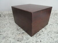 """Vintage Wood Card File 4x6"""" cards by Merchants Box Co.1972 Dark Stain Dovetailed"""