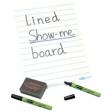 SHOWME A4 LINED WHITEBOARD (blue Lines) WITH DRYWIPE MARKER & ERASER