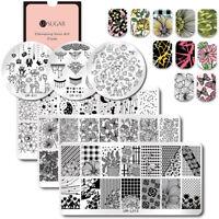 UR SUGAR Placas de Estampado de Uñas Arte de Uñas Plantillas Nail Stamping Plate